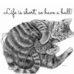 Tabby-Cat-Playing-with-a-Ball-of-Yarn-Postcard