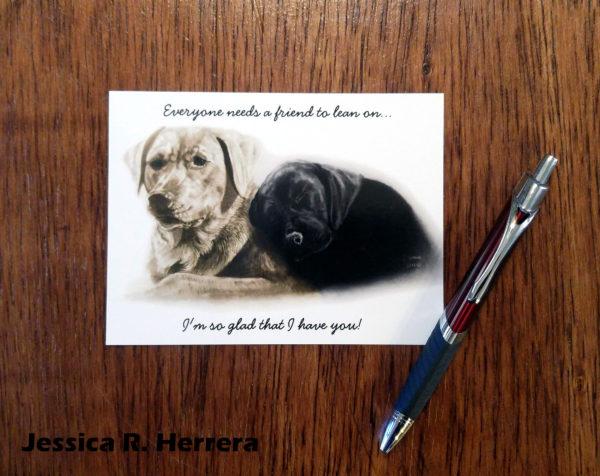 A-Friend-To-Lean-On-Postcard