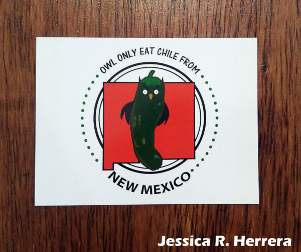 Owl-Only-Eat-Chile-From-New-Mexico-Postcard