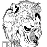 runfor-the-zoo-lion-black-and-white--for-t-shirt-for-web