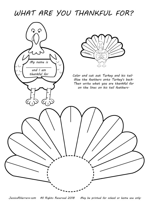 Easy Turkey Thanksgiving Coloring Page